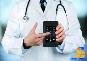 Doctor smart phone.